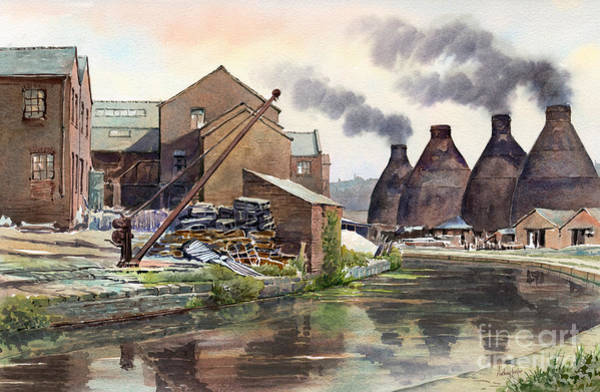 Wall Art - Painting - Middleport Pottery by Anthony Forster