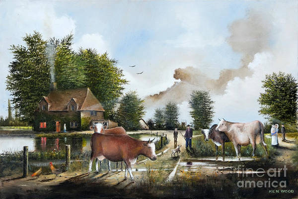 Milking Time Art Print