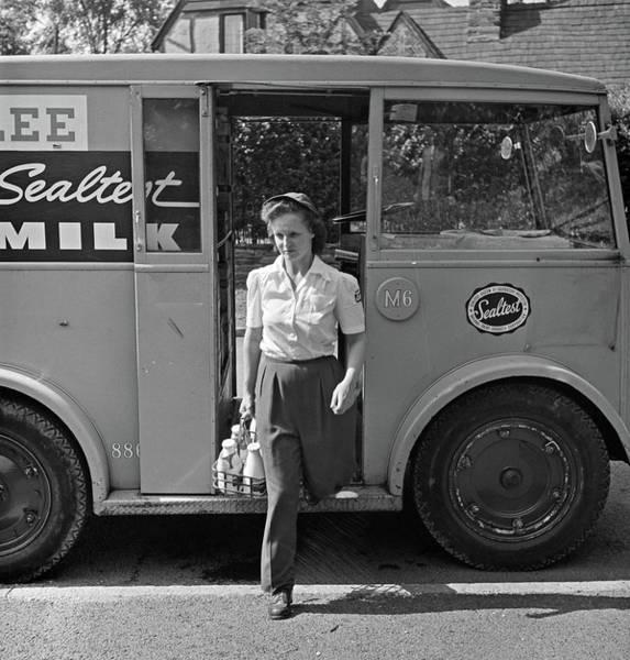 Wall Art - Photograph - Milkman, 1943 by Granger