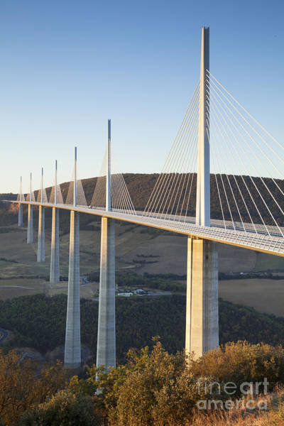Wall Art - Photograph - Millau Viaduct At Sunrise Midi-pyrenees France by Colin and Linda McKie