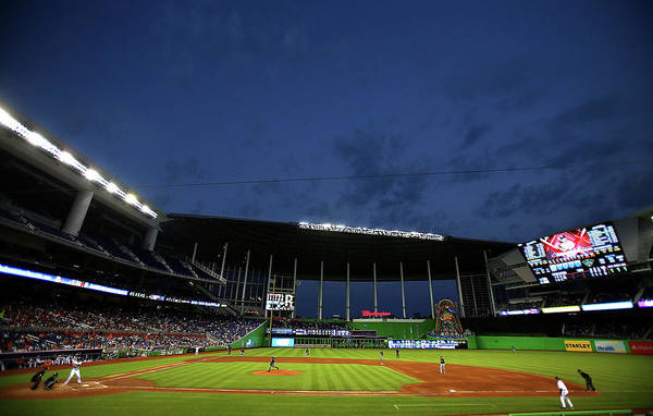 Miami Marlins Photograph - Milwaukee Brewers V Miami Marlins by Mike Ehrmann
