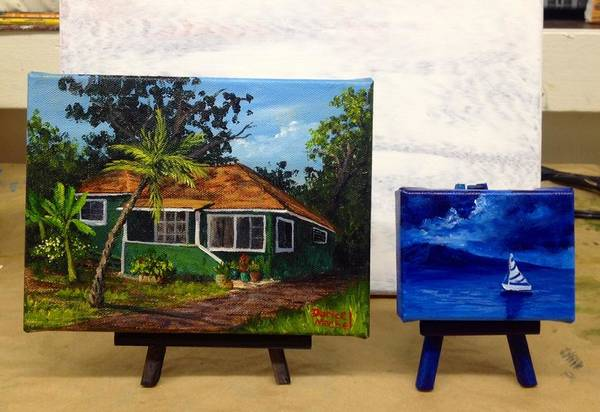 Painting - Miniatures by Darice Machel McGuire