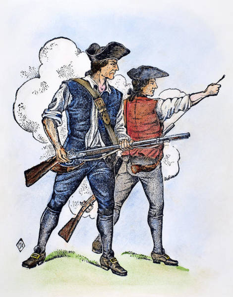Militiaman Photograph - Minutemen, 1770s by Granger