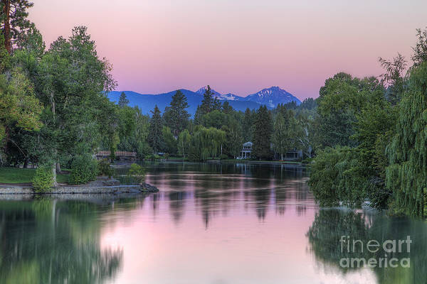 Central Oregon Photograph - Mirror Pond by Twenty Two North Photography