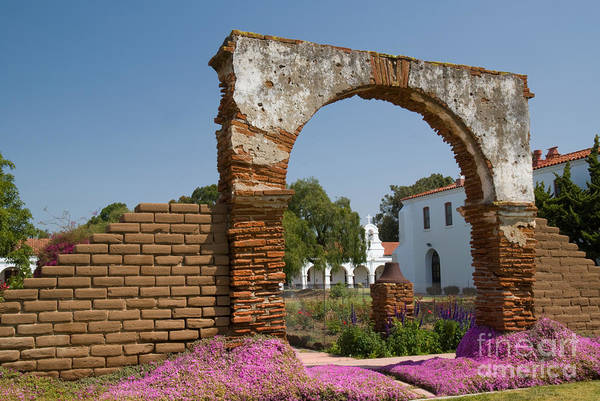 San Luis Rey De Francia Photograph - Mission Gate by Richard and Ellen Thane