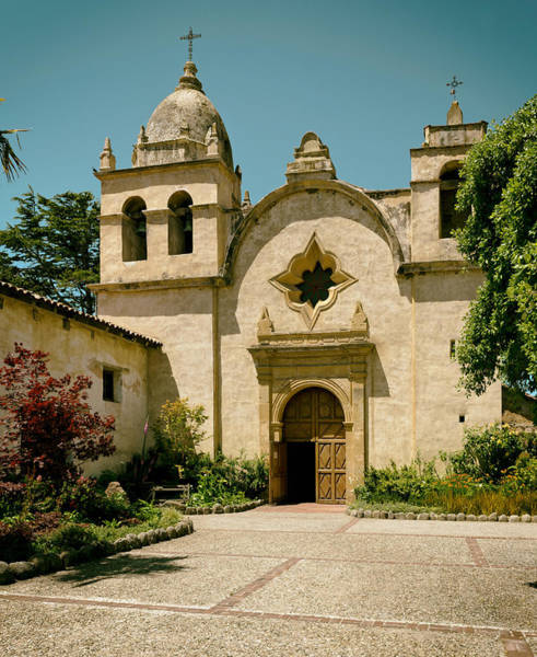 Carmel Mission Photograph - Mission San Carlos - Carmel California by Mountain Dreams
