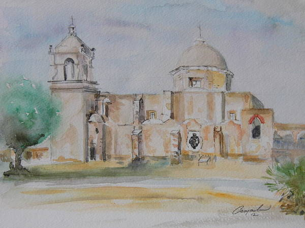 Mission San Jose Art Print by David Camacho
