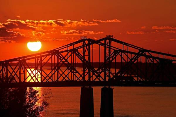 Photograph - Mississippi River Bridge At Natchez by Jim Albritton