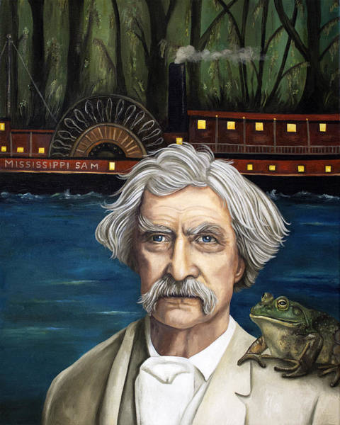 Riverboat Painting - Mississippi Sam by Leah Saulnier The Painting Maniac