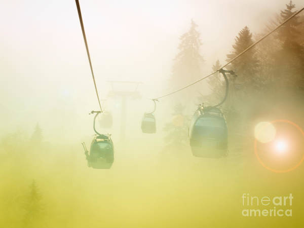 Ropeway Photograph - Misty Mountain by Sinisa Botas
