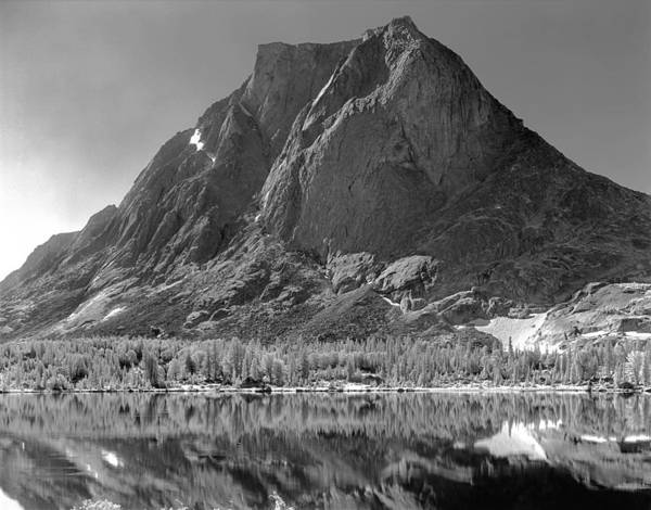 Photograph - 109644-bw-mitchell Peak, Wind Rivers by Ed  Cooper Photography