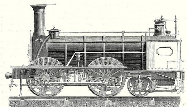 Locomotive Drawing - Mixed-traffic Locomotive by English School