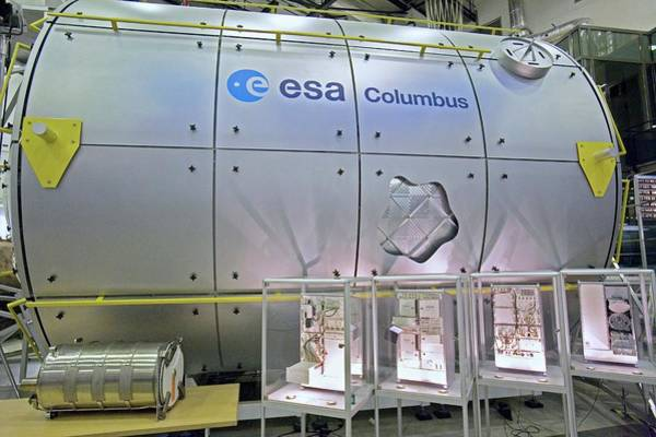 Module Wall Art - Photograph - Model Of Iss Module Columbus by Adam Hart-davis/science Photo Library