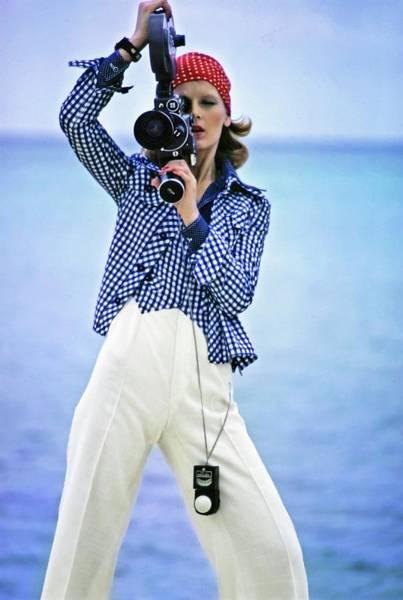 Waistcoat Photograph - Model Wearing Pat Sandler by Gianni Penati