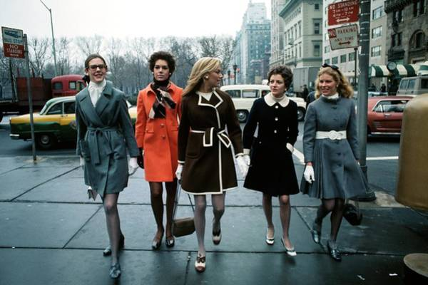 Urban Scene Photograph - Models Wearing Coats by William Connors