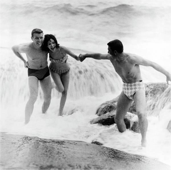 Rio De Janeiro Photograph - Models Wearing Swimwear by Richard Waite