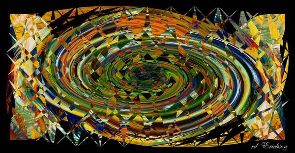 Digital Art - Modern Art I by rd Erickson