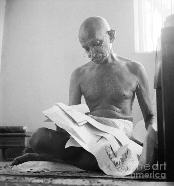 Photograph - Mohandas Gandhi by Celestial Images