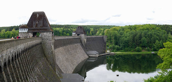 Photograph - Mohne Dam Wide View by Gary Eason
