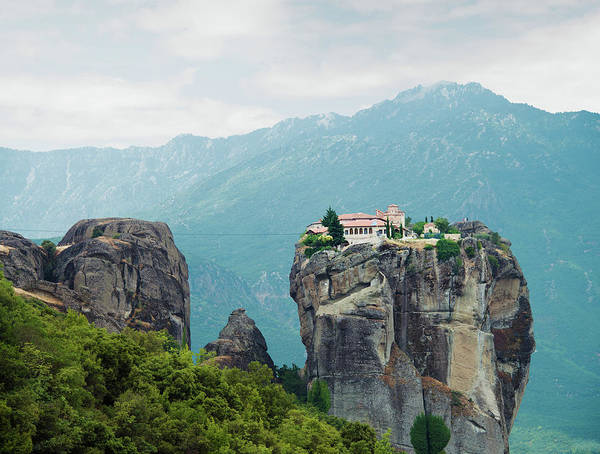 Holy Trinity Photograph - Monastery In The Meteora, Greece by Ed Freeman
