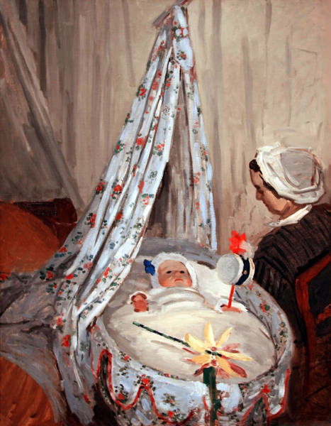 Claude Monet Photograph - Monet's The Cradle -- Camille With Artist's Son Jean by Cora Wandel