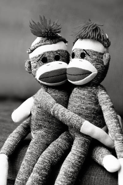 Sock Monkey Photograph - Monkey Love by Cynthia Linderbeck
