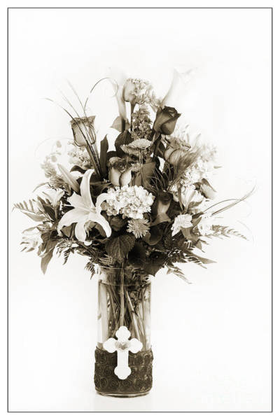 Photograph - Monochrome Flowers 8038.01 by M K Miller