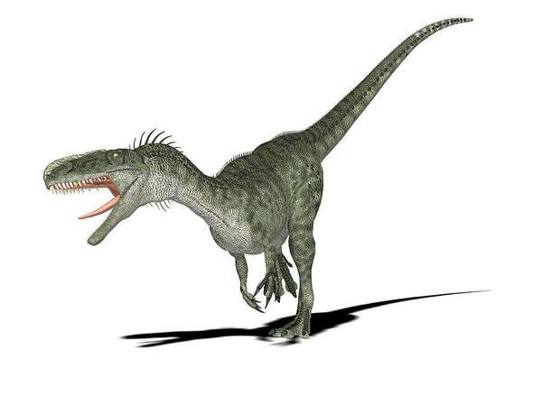 Palaeozoology Wall Art - Photograph - Monolophosaurus Dinosaur by Friedrich Saurer