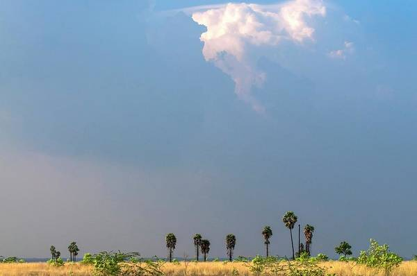 Cloud Type Wall Art - Photograph - Monsoon Clouds Over Landscape by K Jayaram