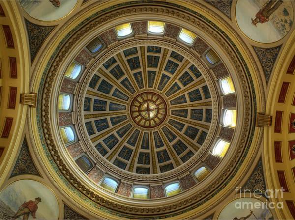 Rotunda Photograph - Montana State Capitol by Juli Scalzi