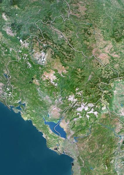 Balkan Peninsula Photograph - Montenegro by Planetobserver/science Photo Library