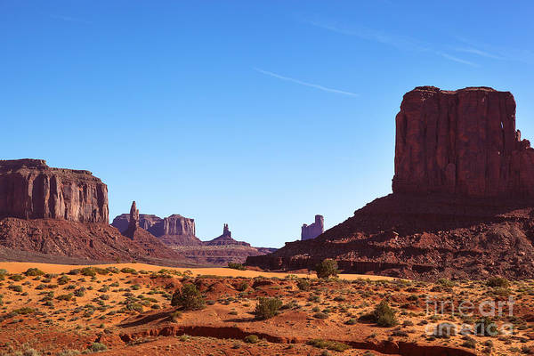 Navajo Indian Reservation Photograph - Monument Valley Landscape by Jane Rix