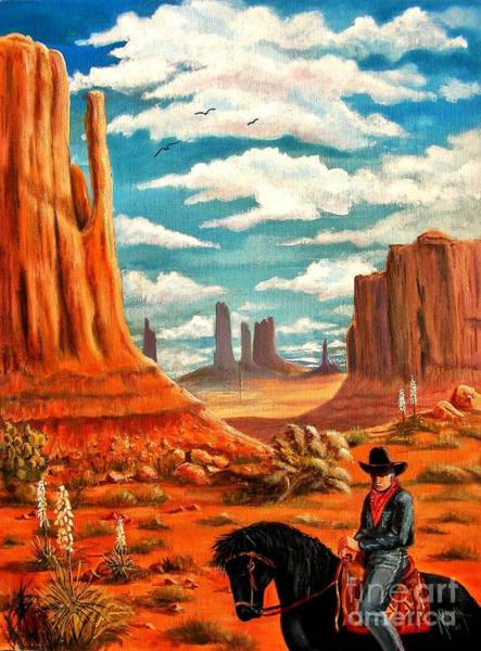 Wall Art - Painting - Monument Valley View by Marilyn Smith