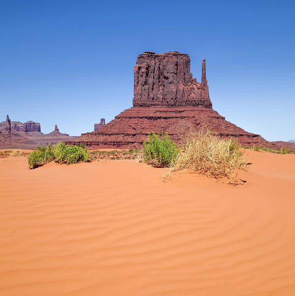 Geologic Formation Photograph - Monument Valley West Mitten Butte by Melanie Viola