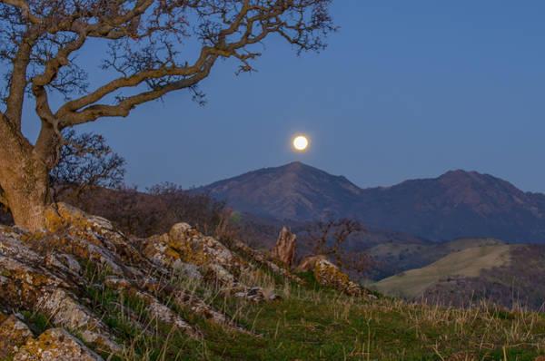 Mt. Diablo Wall Art - Photograph - Moon Over Mt Diablo by Marc Crumpler