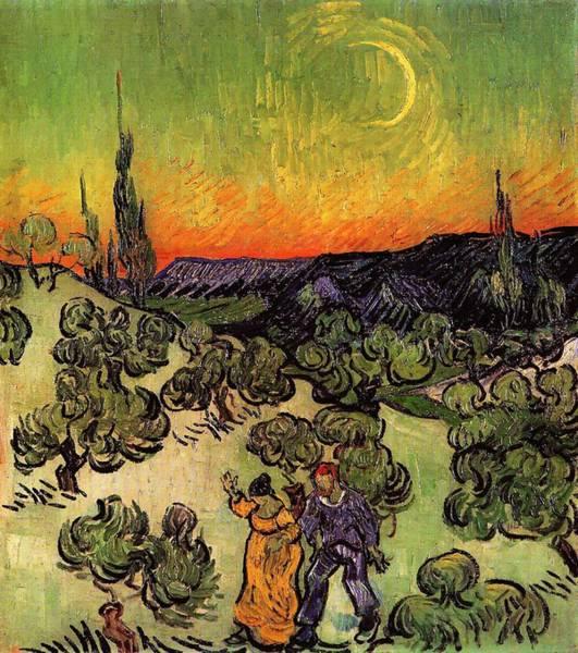 Painting - Moonlit Landscape by Vincent Van Gogh