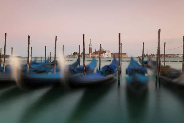 Moored Photograph - Moored Gondolas And Isola Di San by Chris Mellor