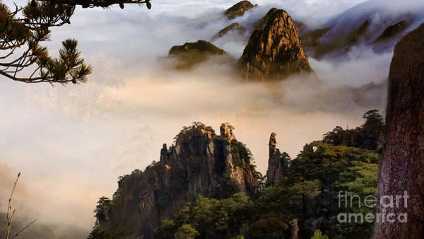 Wall Art - Digital Art - Morning Fog China Mountains  by Heinz G Mielke