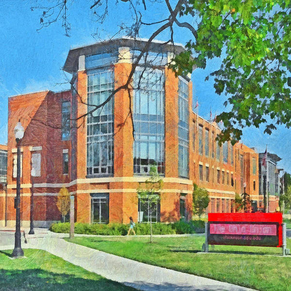 Digital Art - Morning On The First Day Of Classes. Student Union. The Ohio State University by Digital Photographic Arts