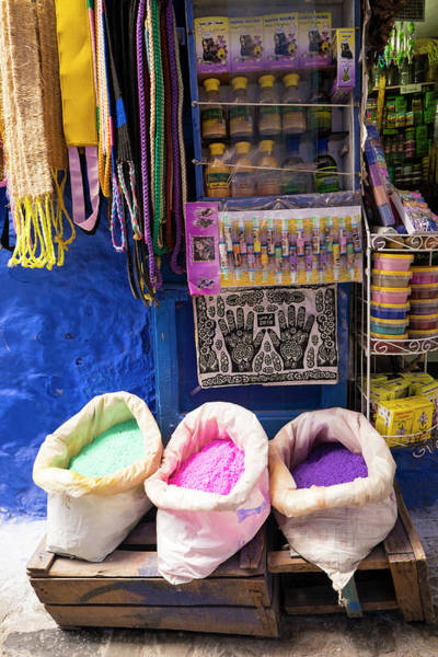 Chefchaouen Wall Art - Photograph - Morocco, Chefchaouen Or Chaouen Is Most by Emily Wilson