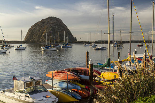Photograph - Morro Bay - Morro Rock 1 by Jim Moss