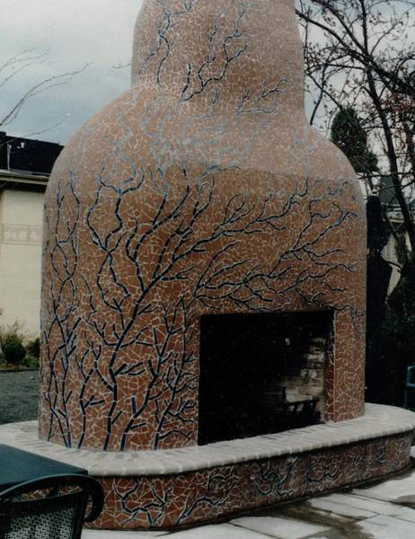 Ceramic Art - Mosaic Fireplace by Charles Lucas