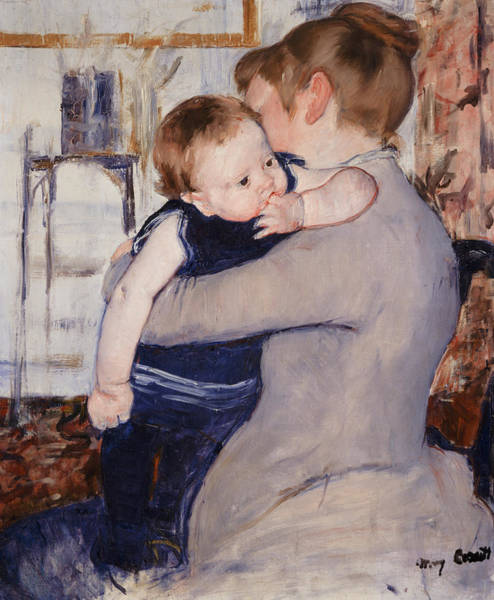 Toddler Painting - Mother And Child by Mary Stevenson Cassatt