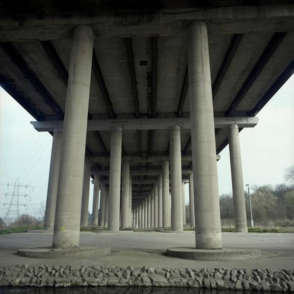 Wall Art - Photograph - Motorway Flyover by Robert Brook/science Photo Library