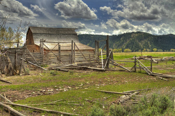 Photograph - Moulton Homestead by Jack R Perry