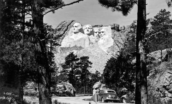 Impressive Photograph - Mount Rushmore In South Dakota by Underwood Archives