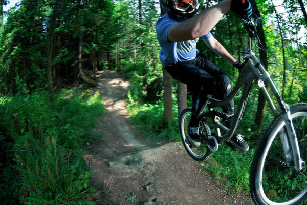 Wall Art - Photograph - Mountain Biking by Gabe Rogel