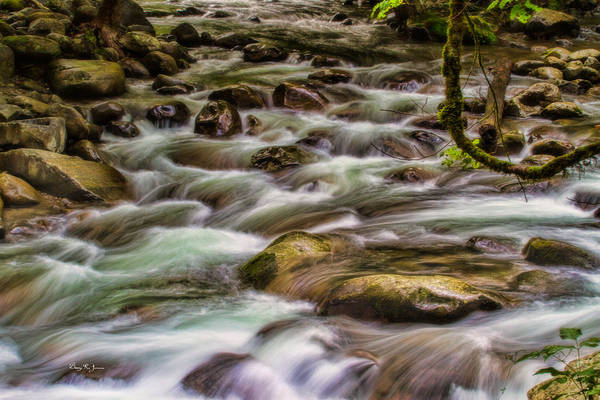 Photograph - Flowing Water - Landscape - Mountain Stream by Barry Jones
