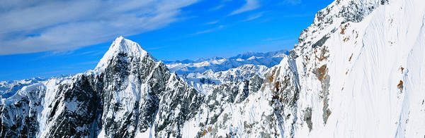 Escarpment Photograph - Mountains And Glaciers In Wrangell-st by Panoramic Images
