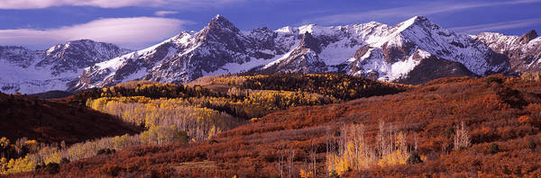 Telluride Photograph - Mountains Covered With Snow And Fall by Panoramic Images